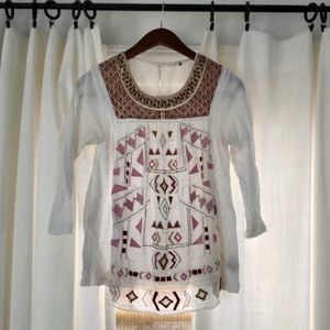 Anthropologie Akemi + Kin embroidered beaded top